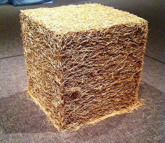 Tara Donovan sculpture made with toothpicks in the form of a cube