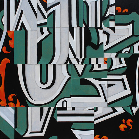 typographic collage by Cecil Touchon