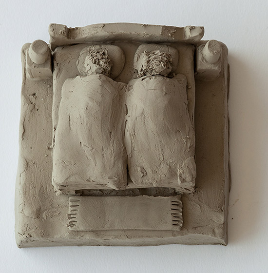 Fischli and Weiss unfired clay sculpture