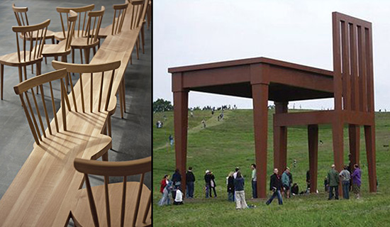 two examples of artist made chairs