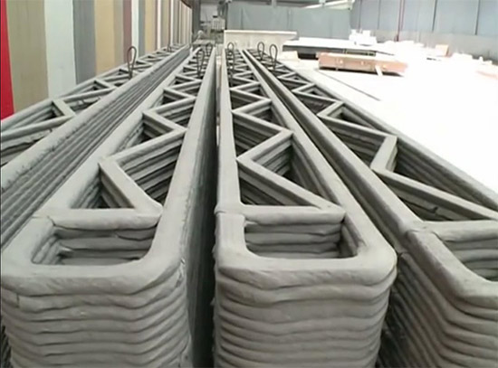 detail image of 3D printed building structural walls