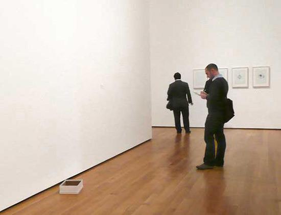 Empty Shoe Box, an installation by Gabriel Orozco