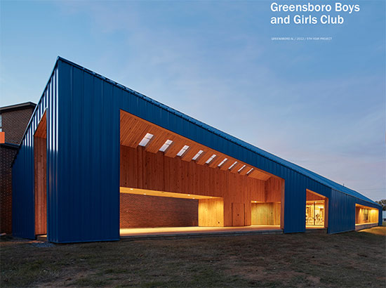 Boys and Girls Club built by the Rural Studio