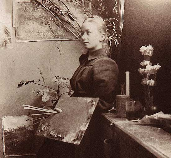 Photograph of artist Hilma af Klint