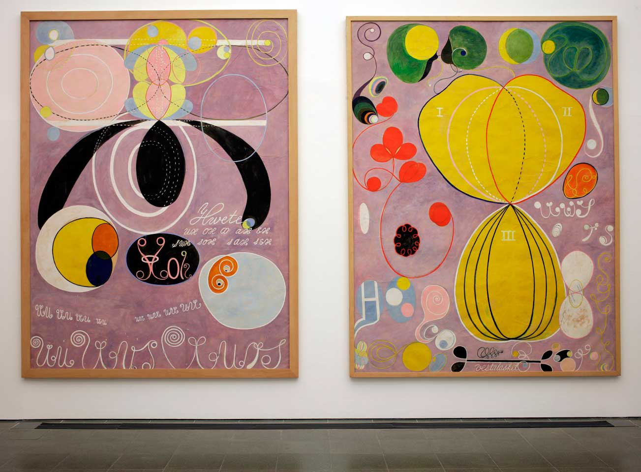 Abstract painting by artist Hilma af Klint