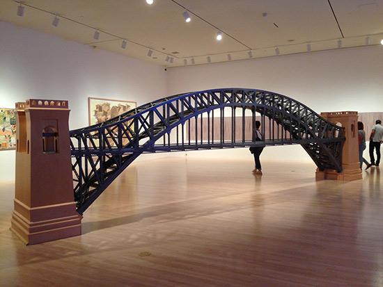 Chris Burden bridge sculpture at MOCA LA