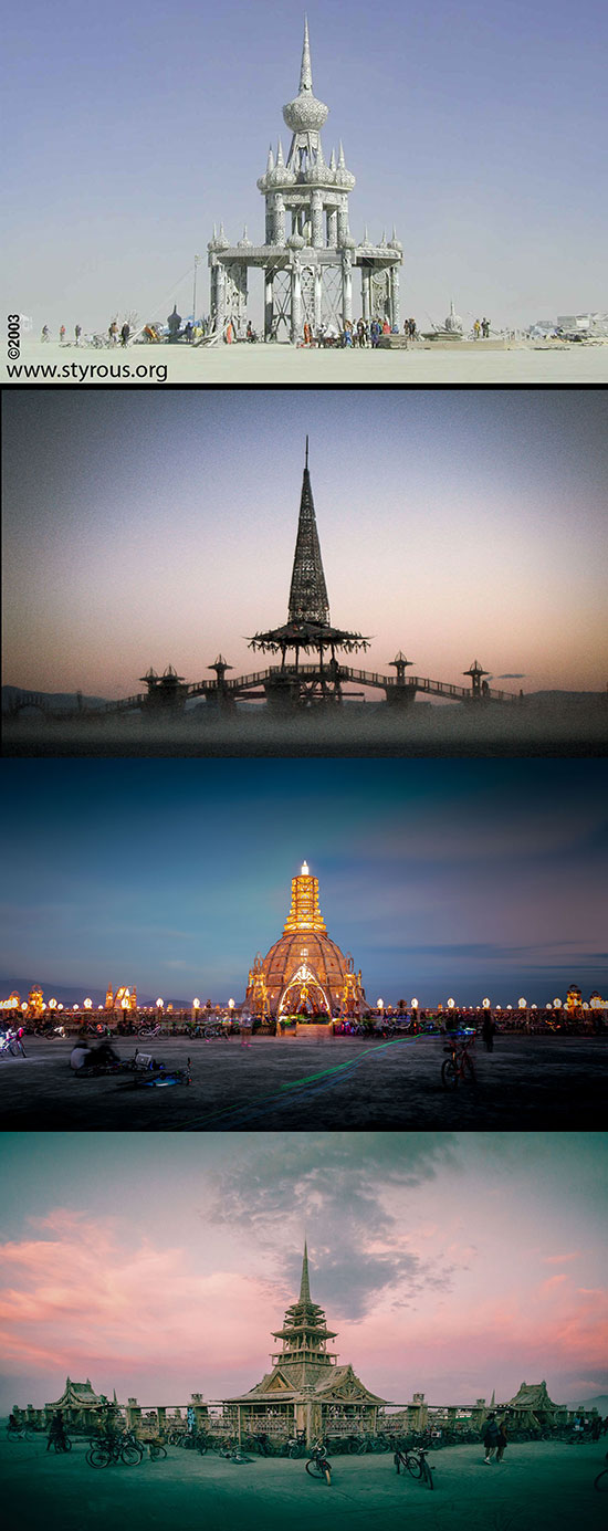 Four Burning Man Temples by David Best