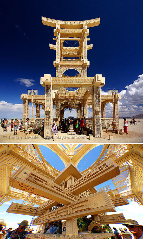 Artist David Best's Temple of Forgiveness at Burning Man