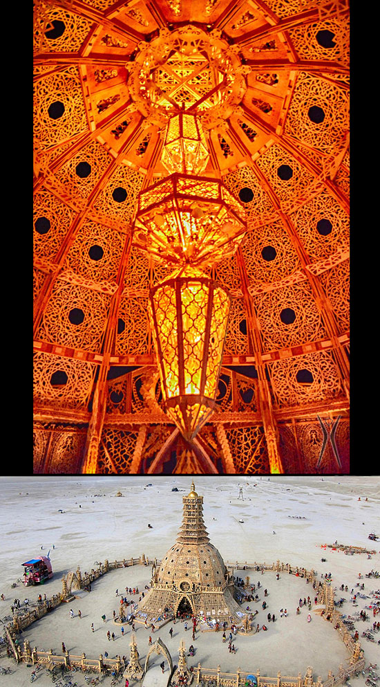 Artist David Best's Temple of Grace at Burning Man