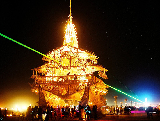 Artist David Best's Temple of Joy at Burning Man