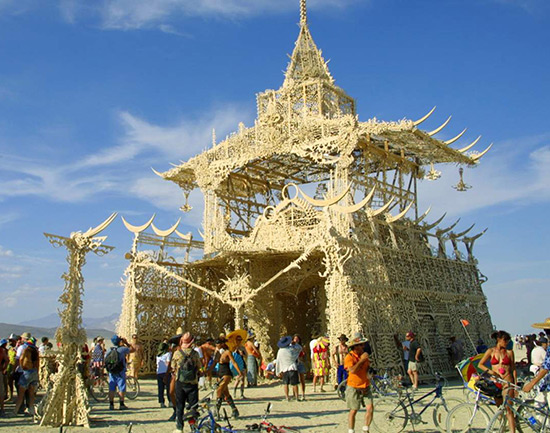 Artist David Best's Temple of Tears at Burning Man