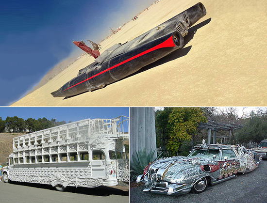 Art cars made by David Best