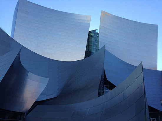 Frank Gehry's Disney Concert Hall detail view