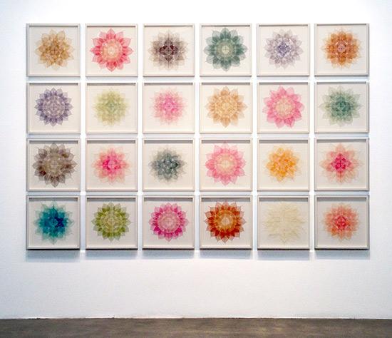 Miya Ando mixed media grid composition