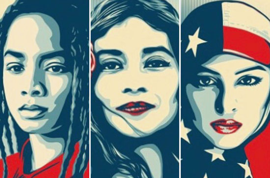 Shepard Fairey We The People posters