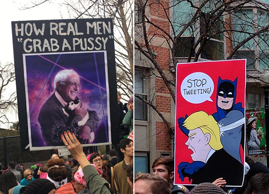 Signs from the Women's March