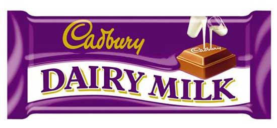 cadbury logo and color
