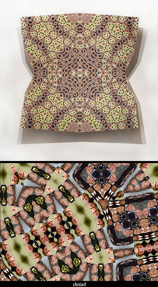 photographic work by Sanaz Mazinani that includes Islamic patterning