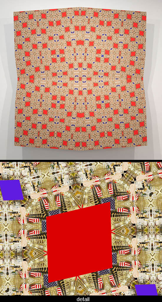photographic work by Sanaz Mazinani that includes Islamic patterning