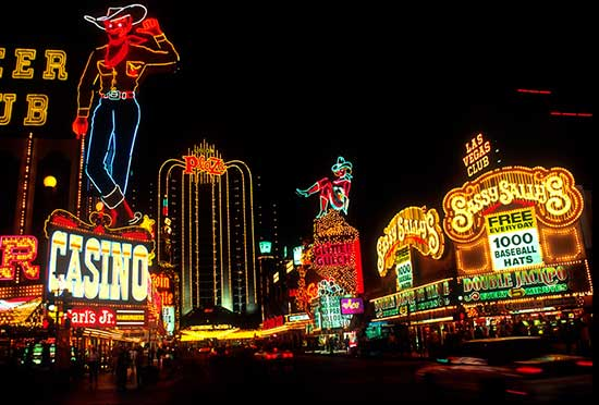 Neon signs and the Vegas Strip