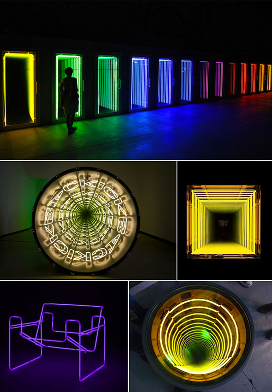 neon art by Ivan Navarro