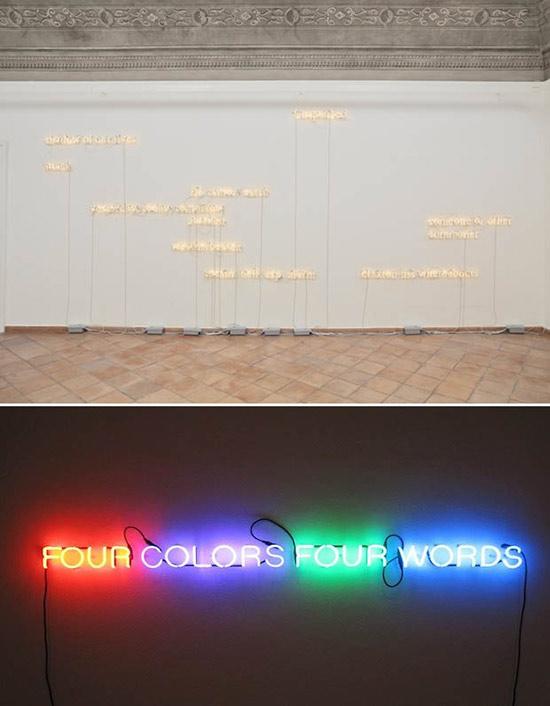 neon art by Joseph Kosuth