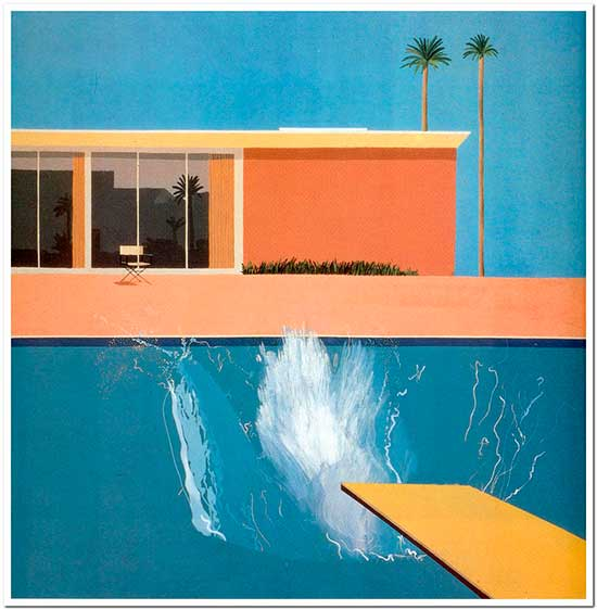 David Hockney painting, Bigger Splash