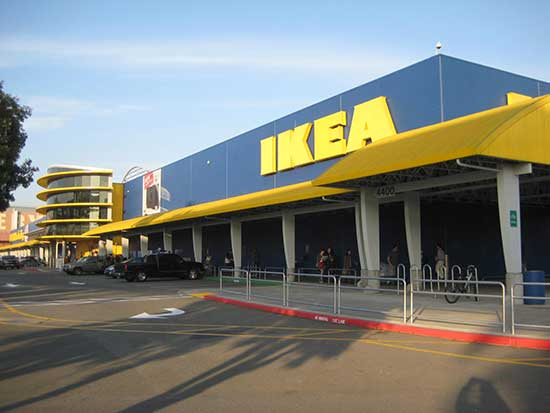 exterior view of an IKEA store