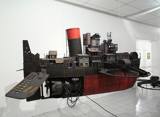 Boat art installation by Yudi Sulistyo
