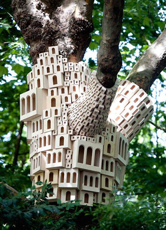 outdoor installation by London Fieldworks