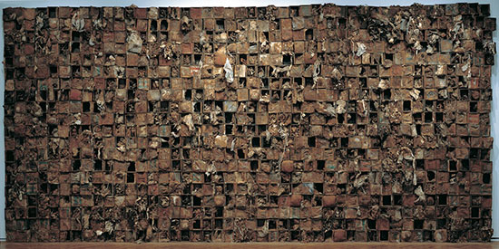 Wall sculpture by Leonardo Drew