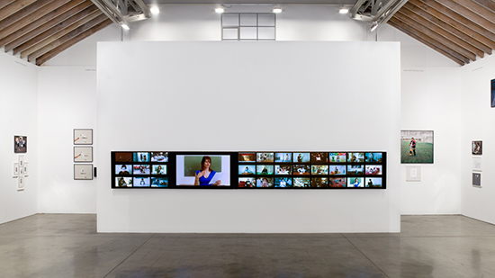 Sophie Calle Take Care of Yourself grid of video screens