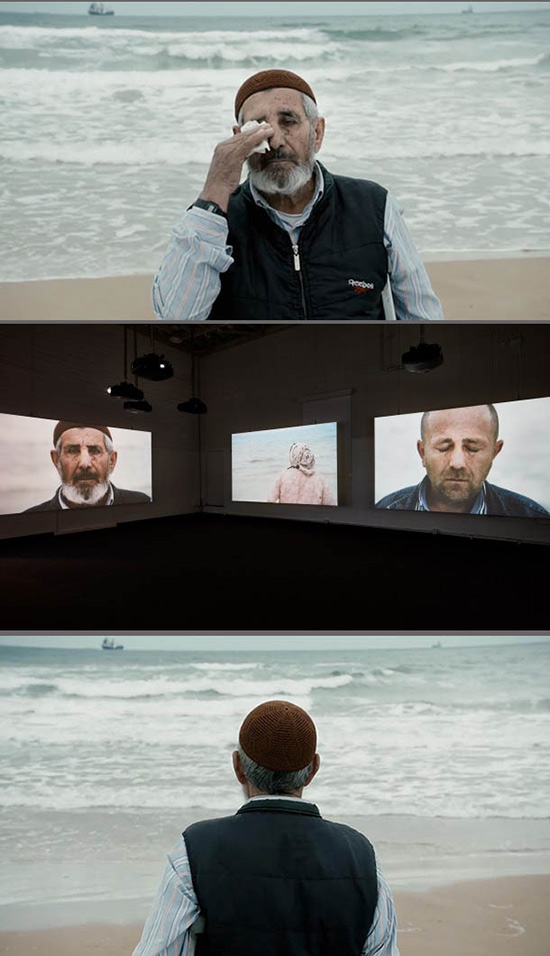 """Voir la mer"" a video installation by Sophie Calle"