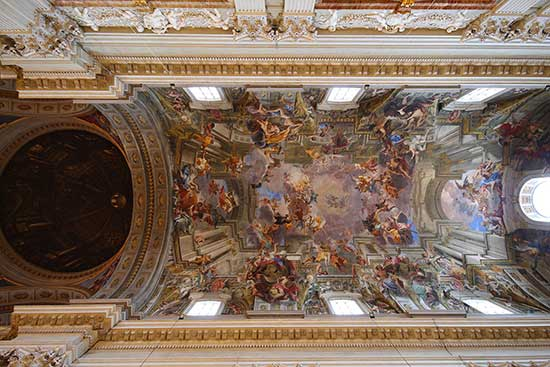 Church ceiling by Andrea Pozzo