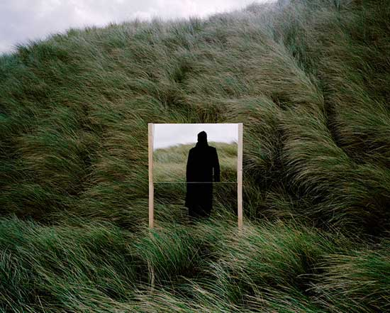 Guillaume Amat photograph in landscape with mirror
