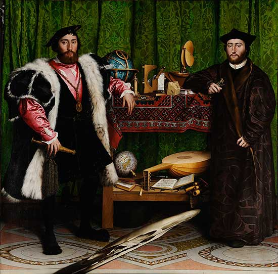 """The Ambassadors"" an oil painting by Hans Holbein"