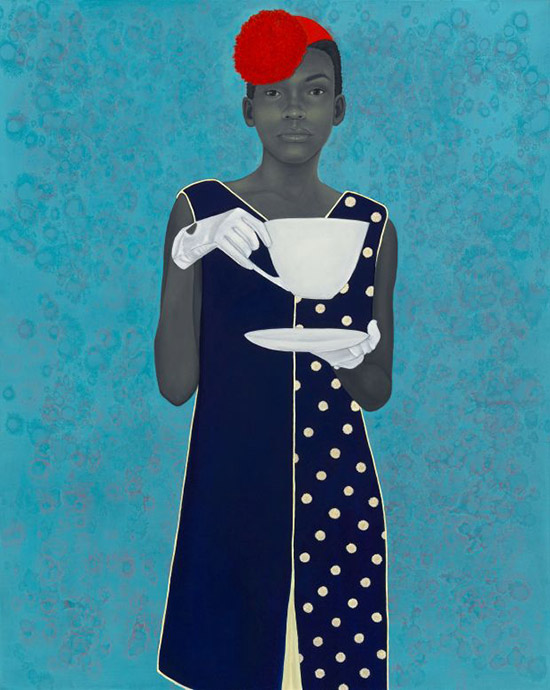 painted portrait by Amy Sherald