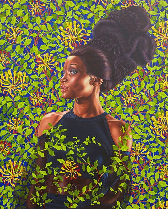 oil painting portrait by Kehinde Wiley