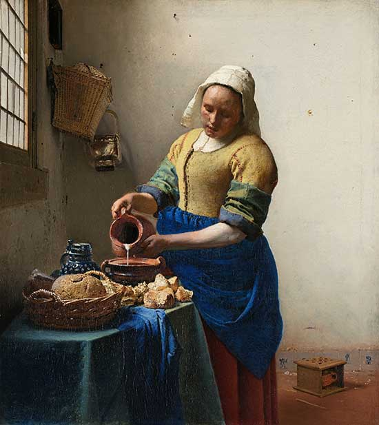 Oil painting by Johannes Vermeer