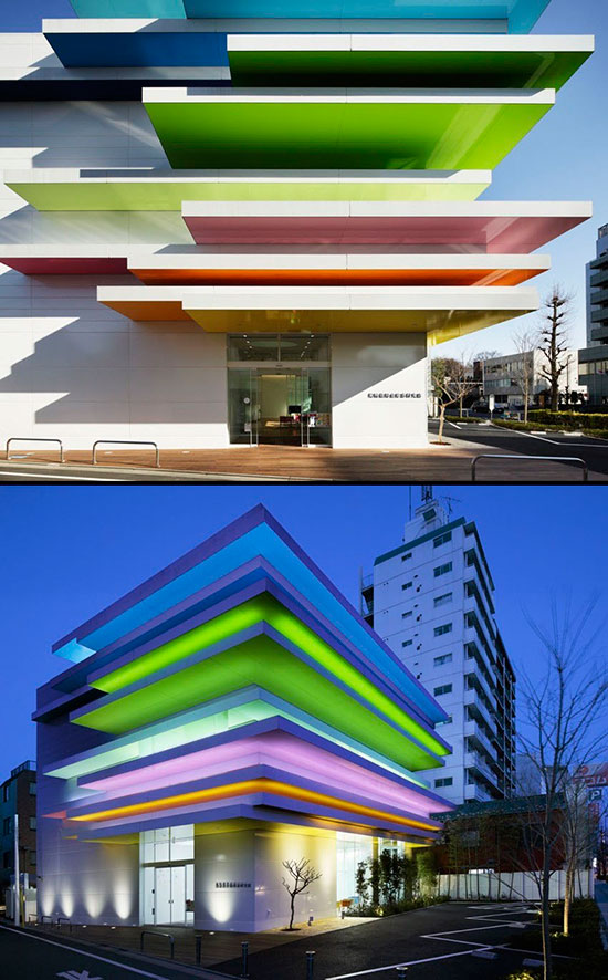 exterior view of bank in Japan by Emmanuelle Moureau