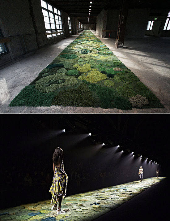 Alexandra Kehayoglou handwoven runway carpet based on nature