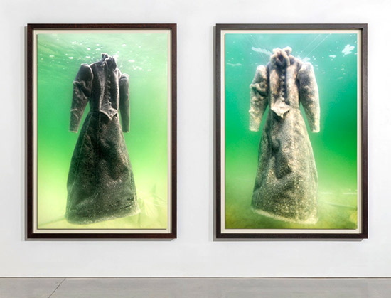 Siglait Landau, two photographs from her installation series The Bride