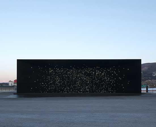 Asif Khan's Hyundai Pavilion, exterior view