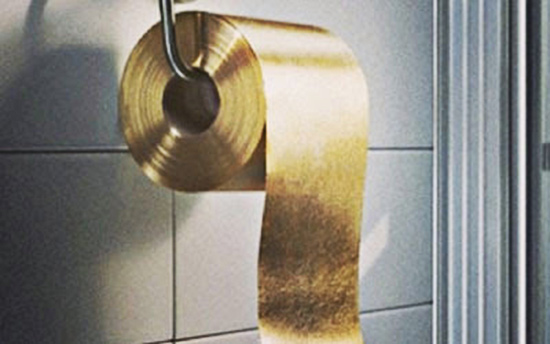 roll of gold leaf toilet paper