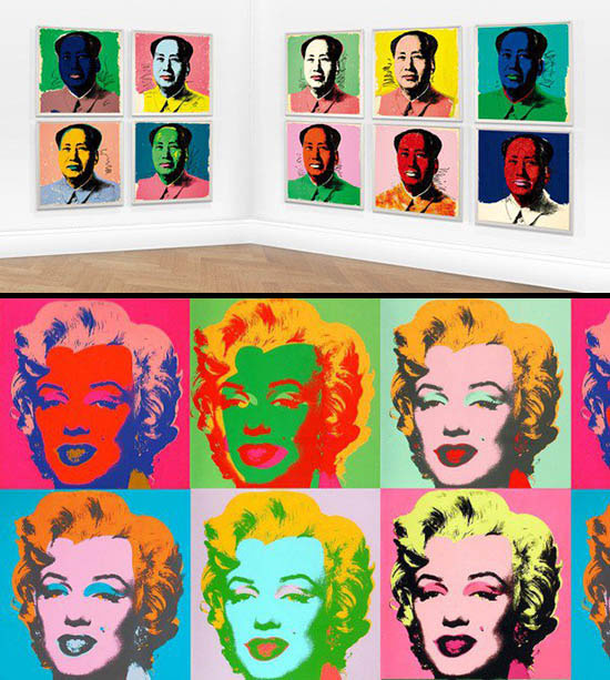 Two print series by Andy Warhol