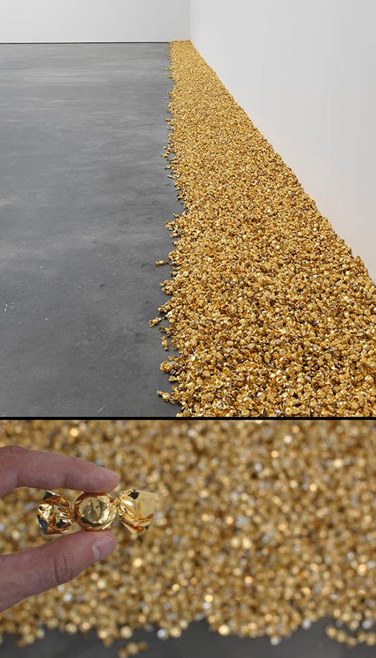 An art installation of hard candies by Félix González-Torres