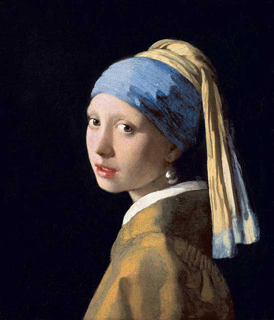 "Johannes Vermeer's oil painting ""Girl with a Pearl Earring"""