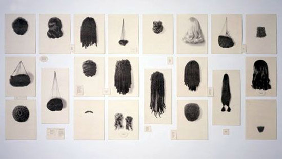 Lorna Simpson photo series of hair