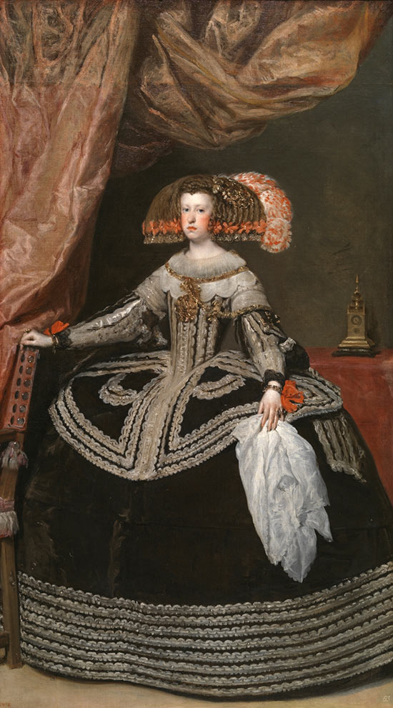 Diego Velázquez's oil painting portrait of Queen Mariana