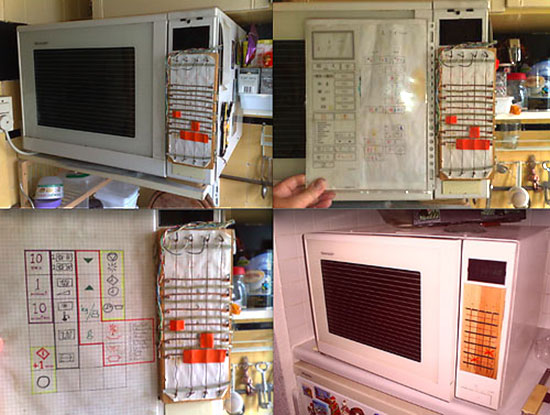 broken microwave keypad replaced with arty alternative